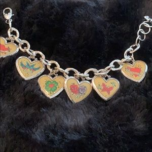 Brighton heart charm bracelet new